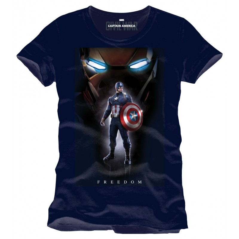T shirt marvel captain america civil war freedom