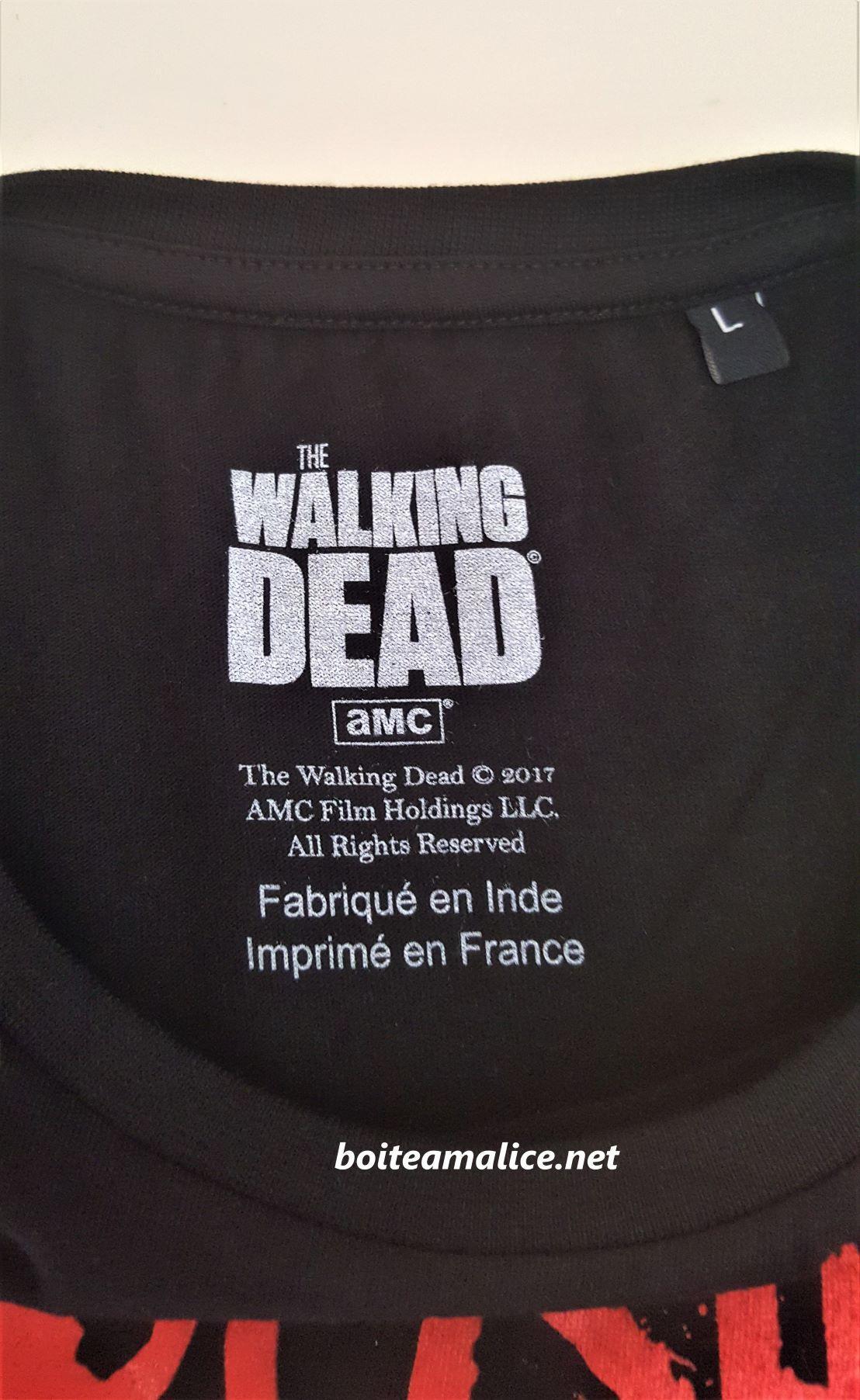 T shirt negan walking dead homme 1