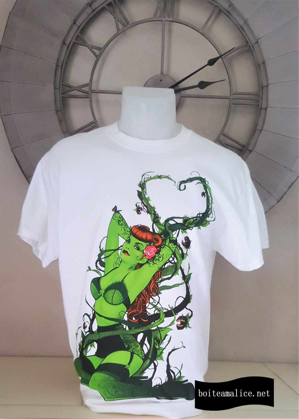 T shirt poison ivy dc comics pinup
