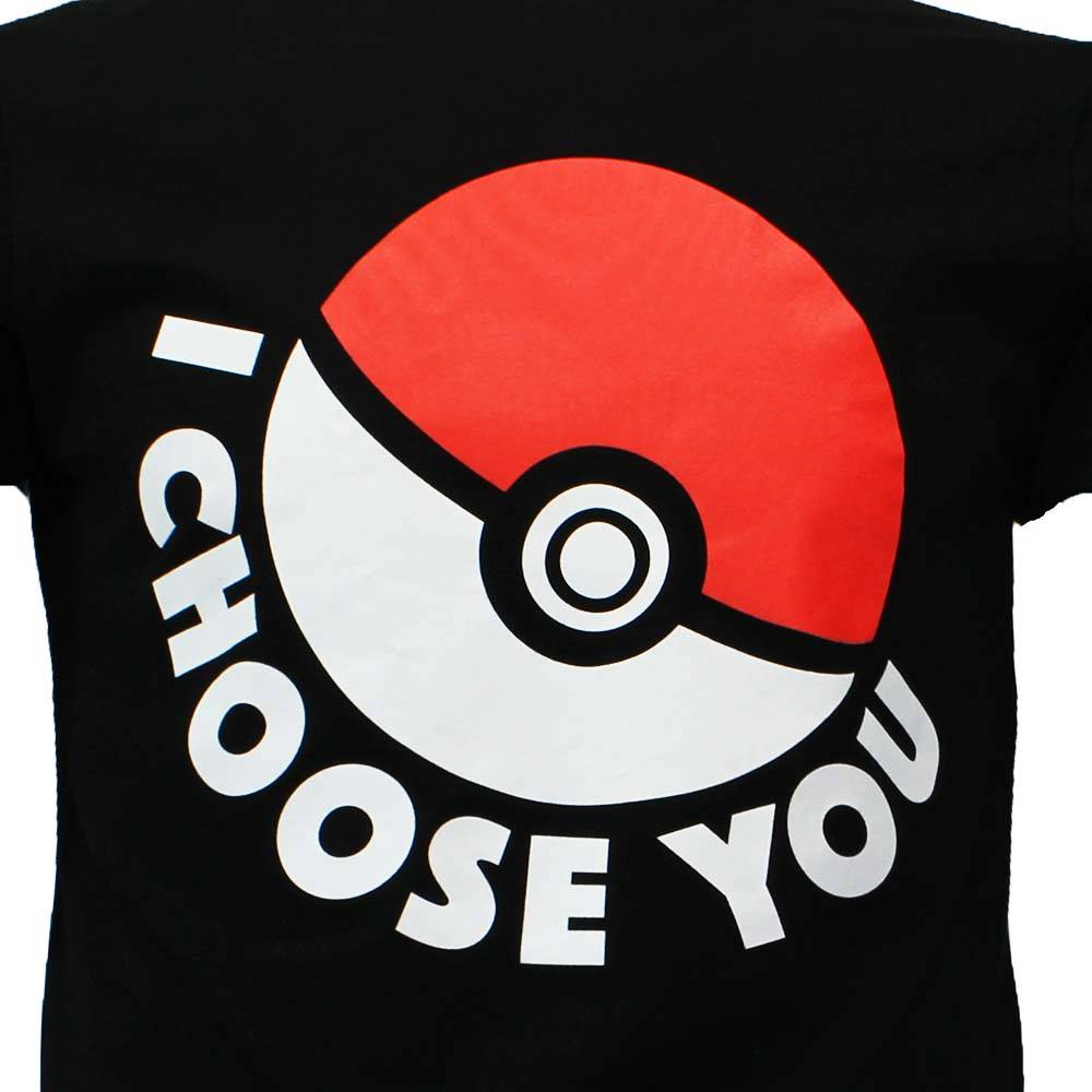T shirt pokemon i choose you pokeball