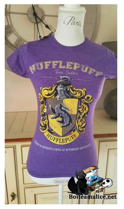 T shirt poufsouffle femme harry potter