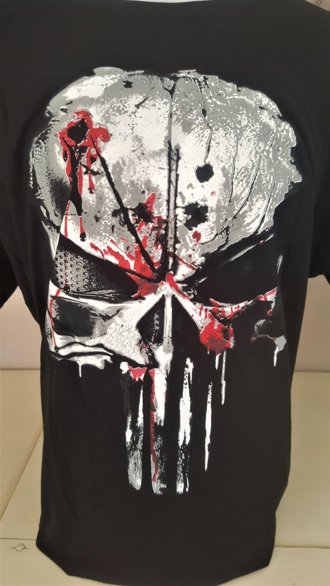 T shirt punisher blood skull marvel