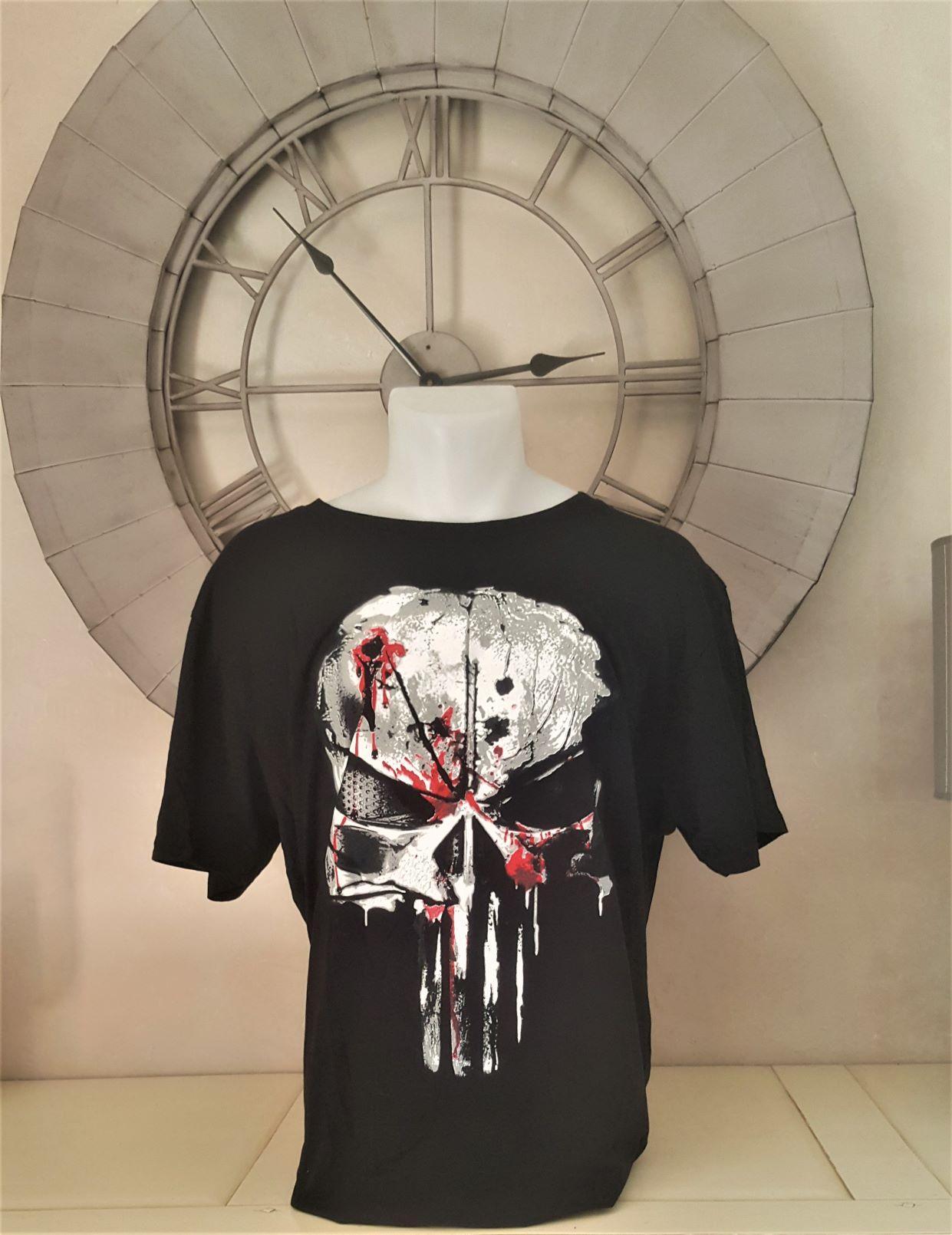 T shirt punisher blood skull