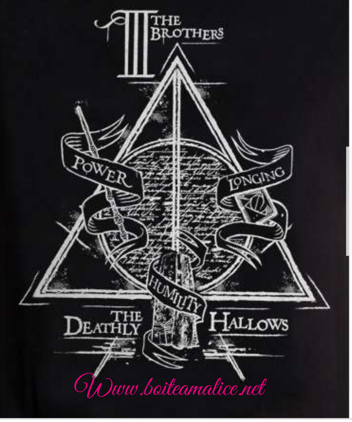T shirt relique de la mort harry potter