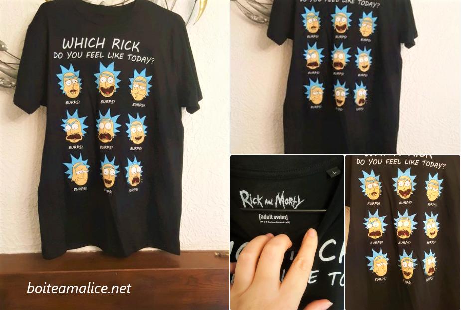 T shirt rick et morty pas cher 1