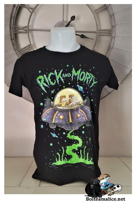 T shirt rick et morty soucoupe