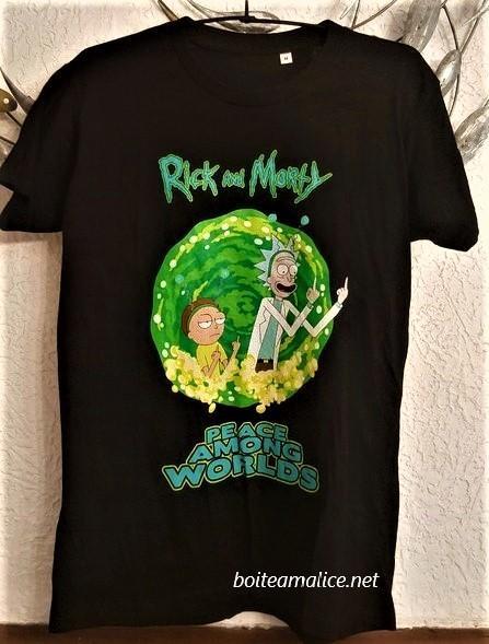 T shirt rick et morty taille m