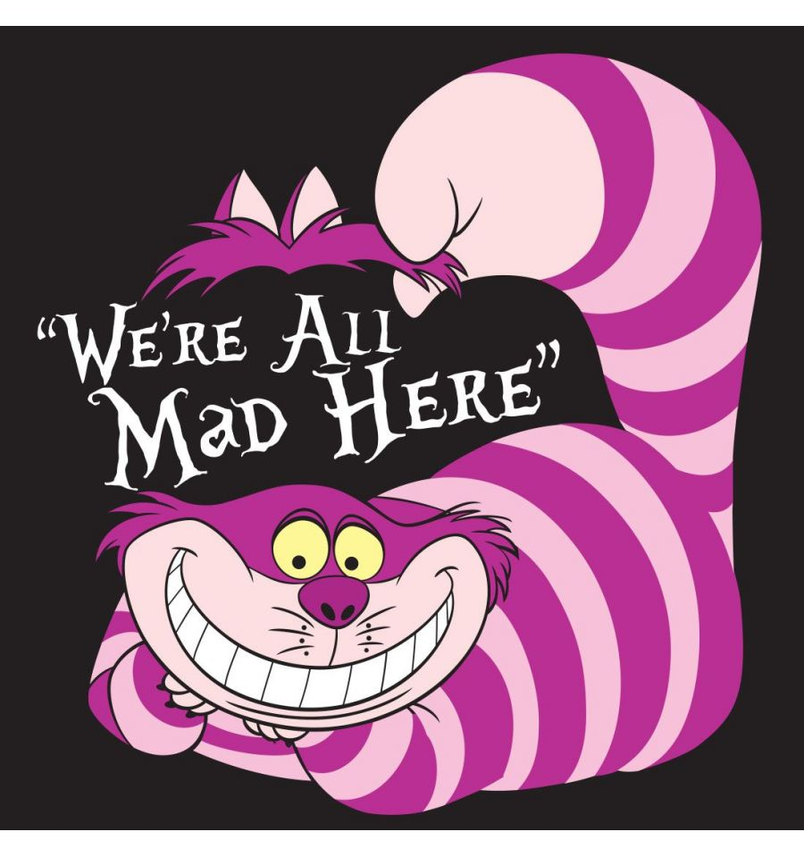 T shirt sheshire disney alice in wonderland