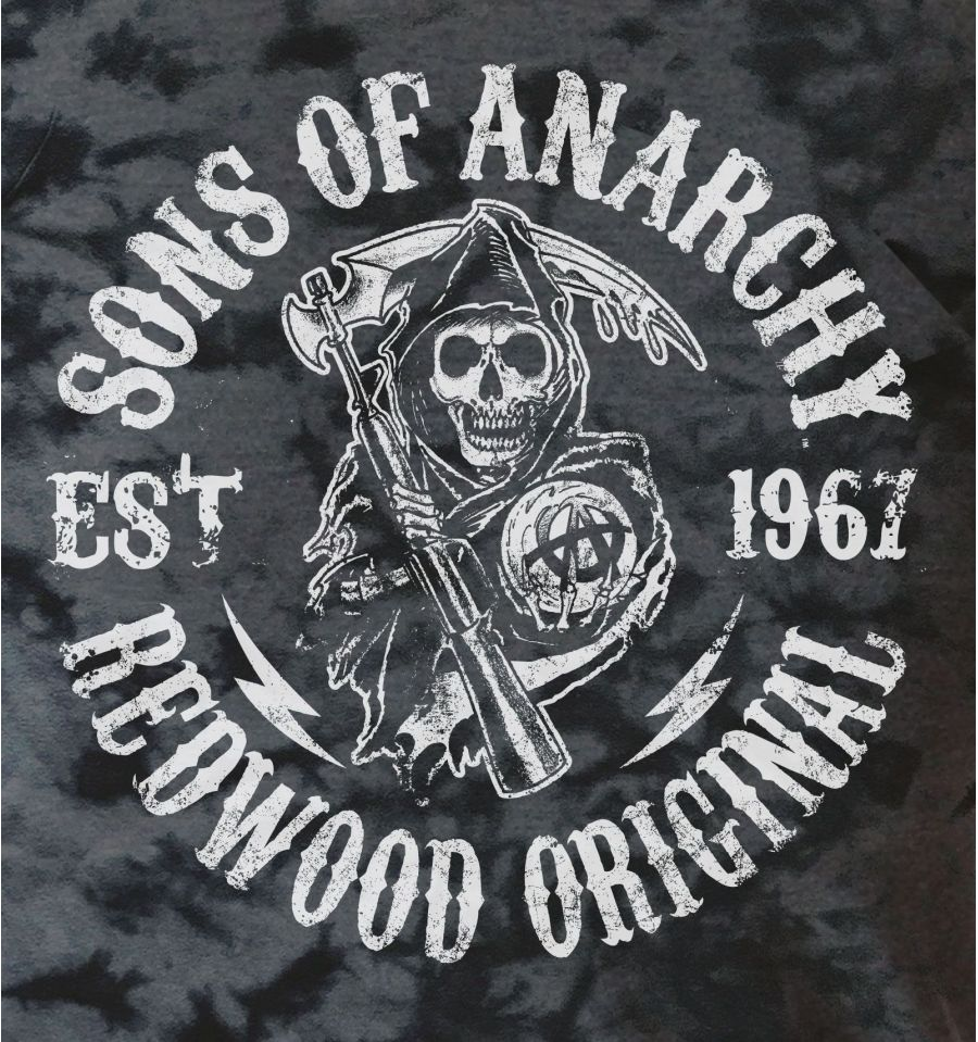 T shirt sons of anarchy gris
