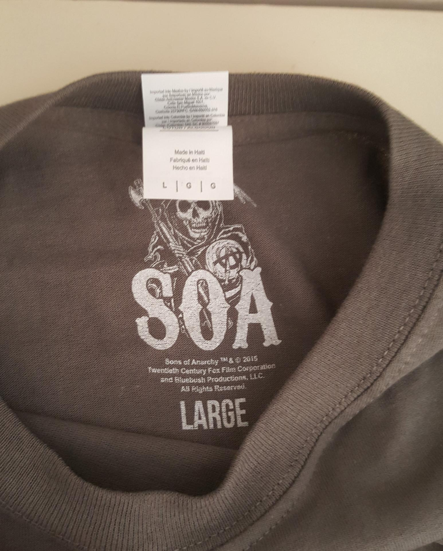 T shirt sons of anarchy homme