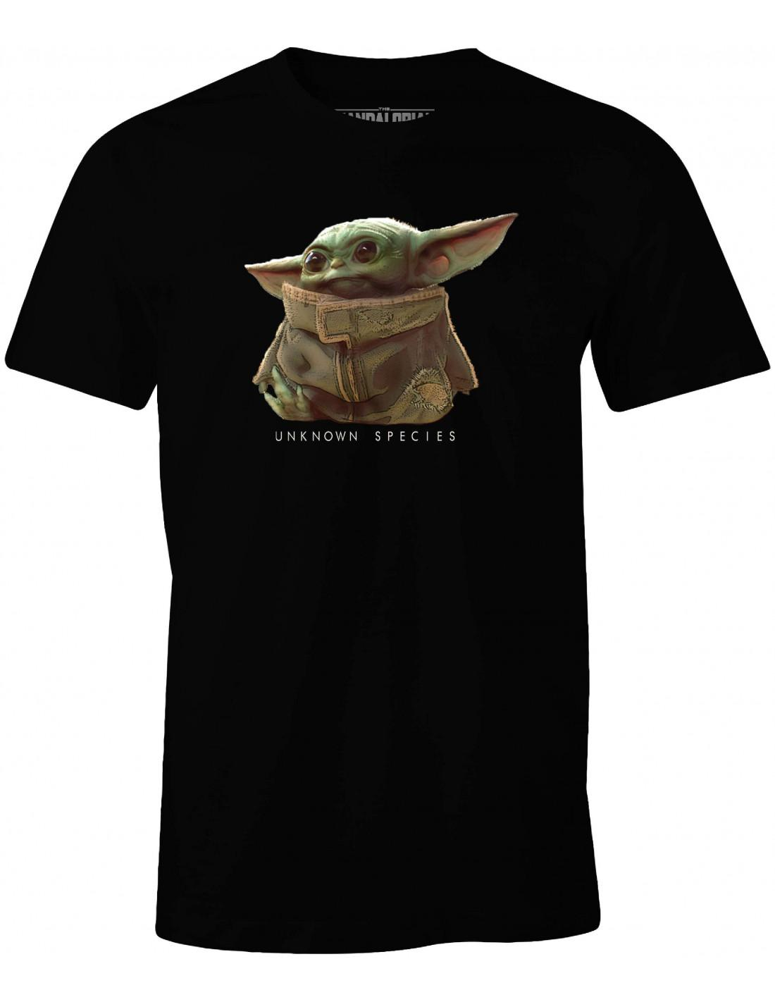 T shirt star wars the mandalorian baby yoda unkown species