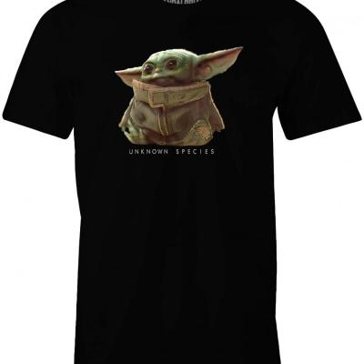 T shirt star wars the mandalorian baby yoda unkown species