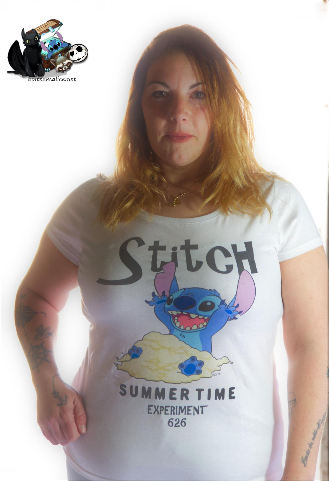T shirt stitch femme logo