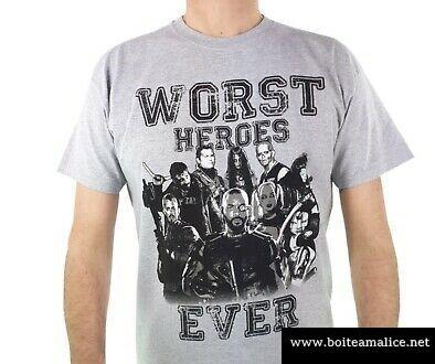 T shirt suicide squad worst heroes ever mens