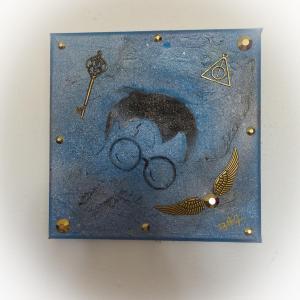 Tableau harry potter bleu