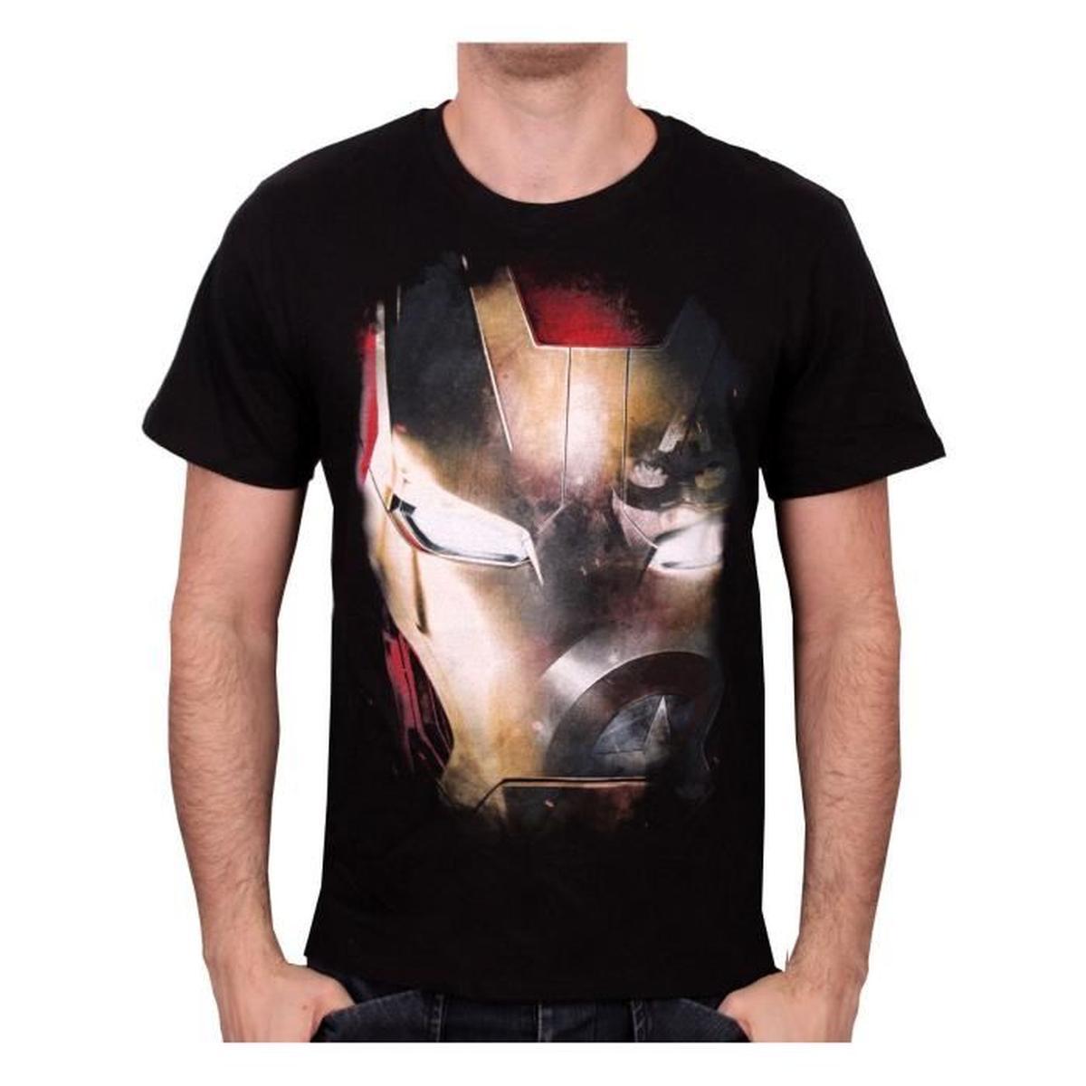 Tee shirt iron mask iron man