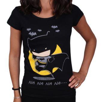 Tshirt batman femme dc comics tiny na na na noir