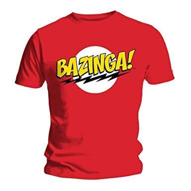 Tshirt big bang theorie bazinga