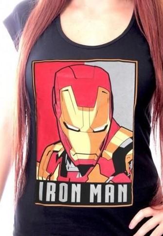 Tshirt femme marvel iron man 1