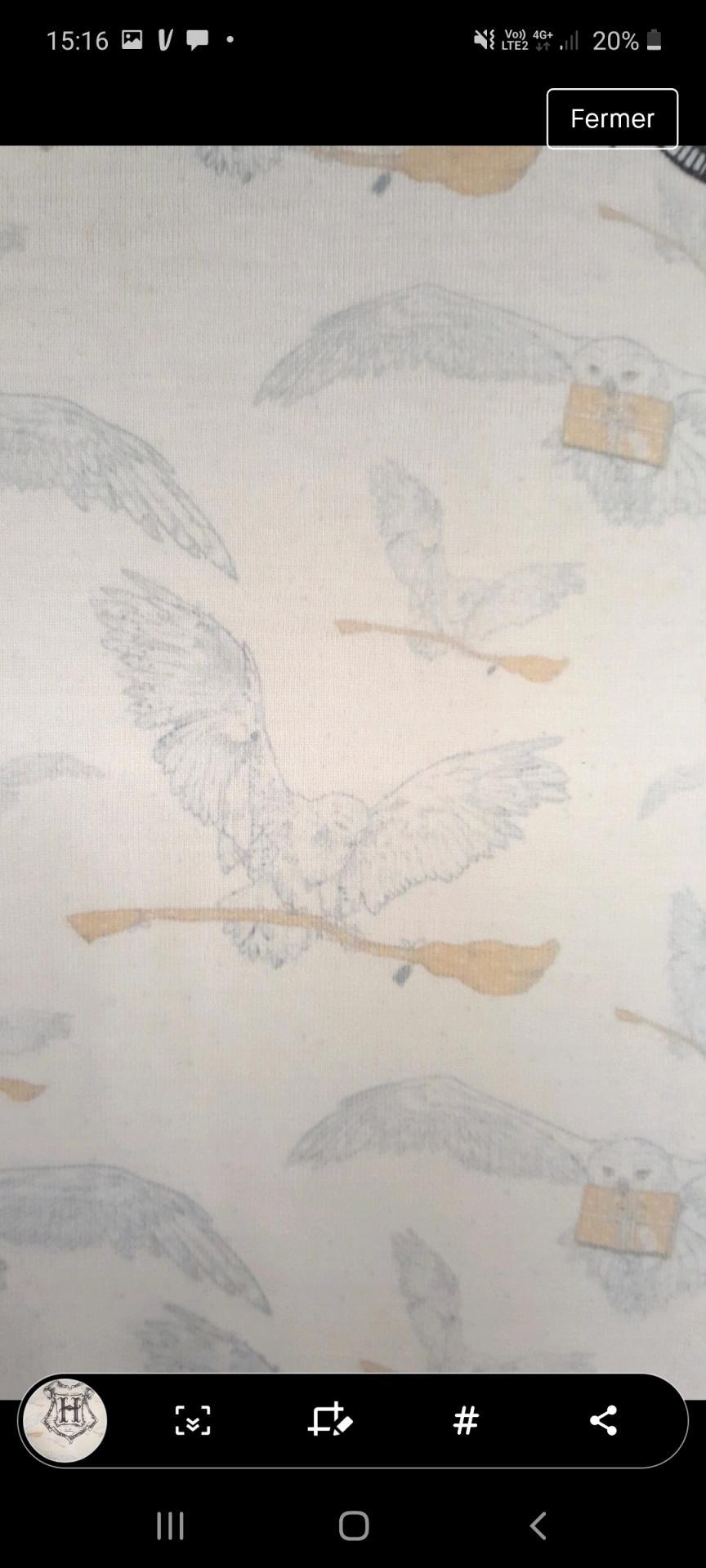 Tshirt hedwig harry potter homme 1