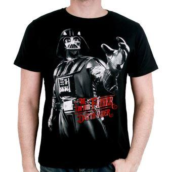 Tshirt star wars vador i am your father noir