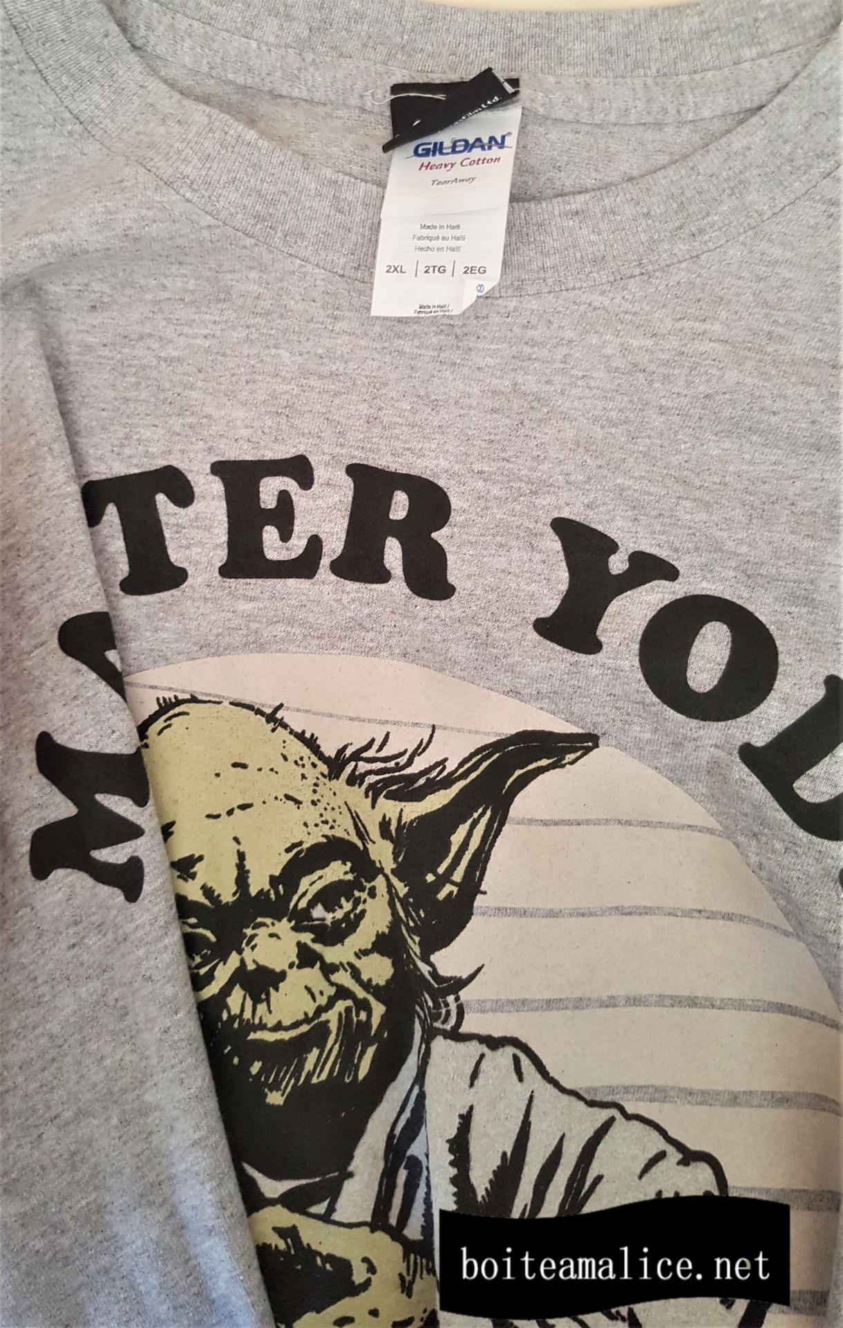 Tshirt yoda star wars