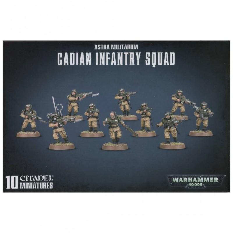 Warhammer 40000 astra militarum cadian infantry squad