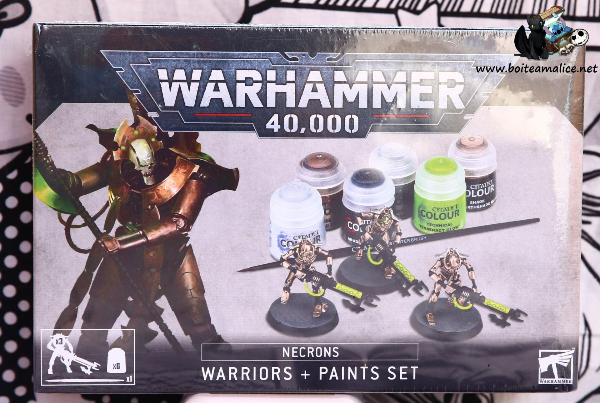 Warhammer 40k necrons warriors paints set